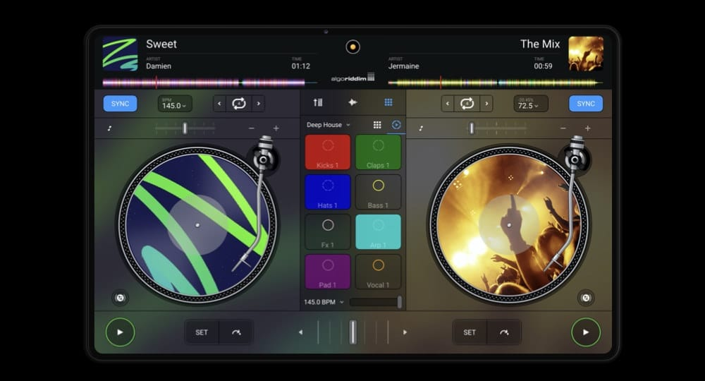 djay android tablet